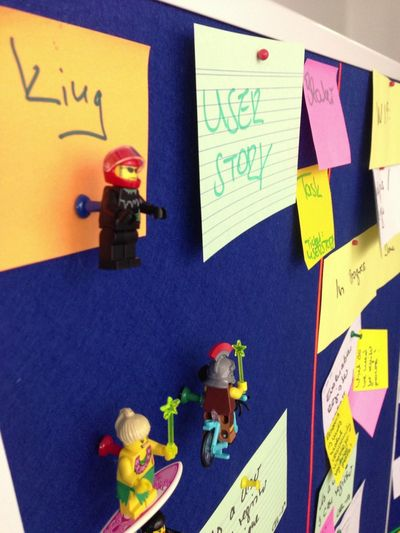 The CIO of Axel Springer got involved into our kanban process and finally we found a role for him LEGO Kanban Agile