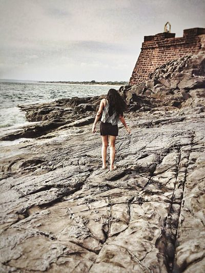 Explore! Seaside Rocky Coastline Summer Vacation