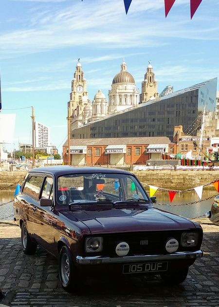 Vintage Ford Sky City Great Western Railway Liver Buildings Car History Architecture Politics And Government Transportation Building Exterior Day Dome Outdoors No People