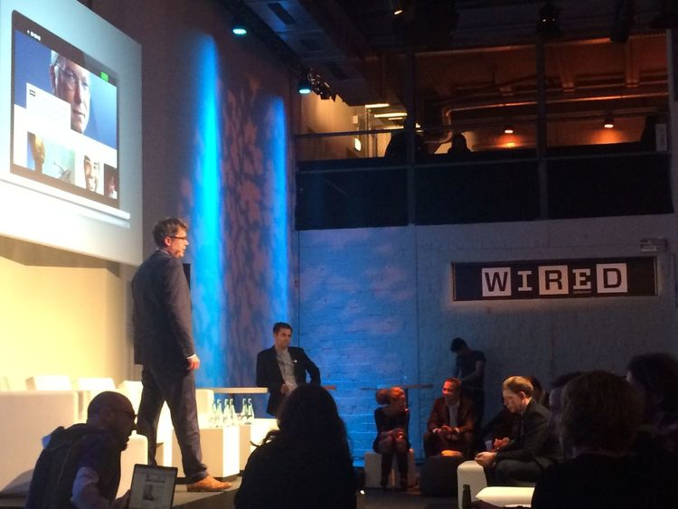 Wired Launch-Event. Nice.