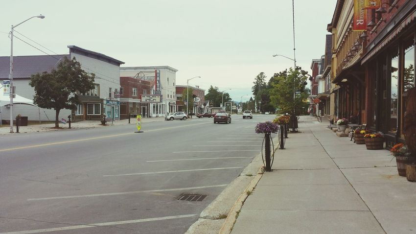Small town life at the end of Summer.