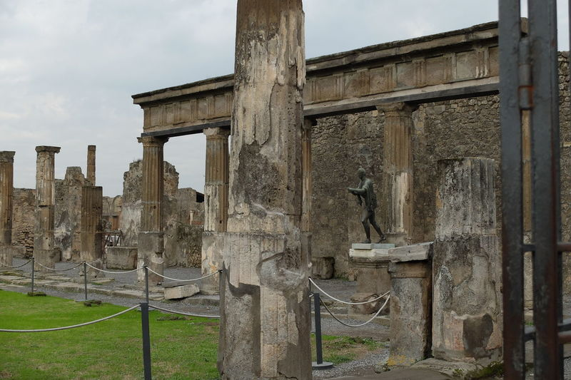 Pompei statue Ancient Civilization Archaeology Architecture Day History Memorial Monument No People Old Ruin Outdoors Pompei Remains Pompei Statue Sky Travel Travel Destinations Tree Weathered