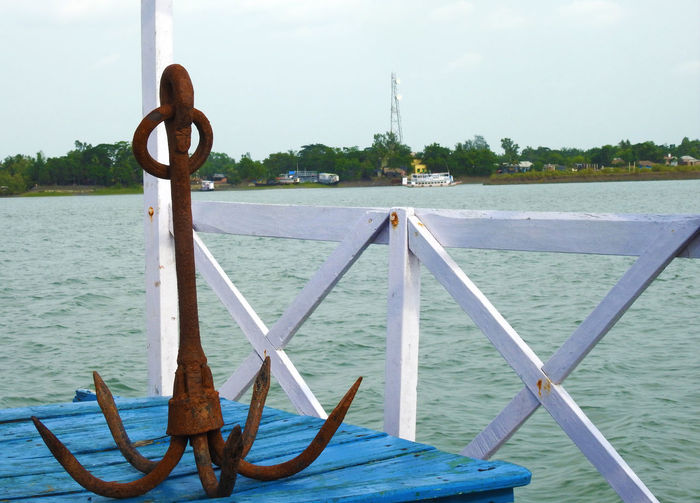 Anchor Anchor - Vessel Part Day Nautical Vessel Outdoors River Water Wood - Material