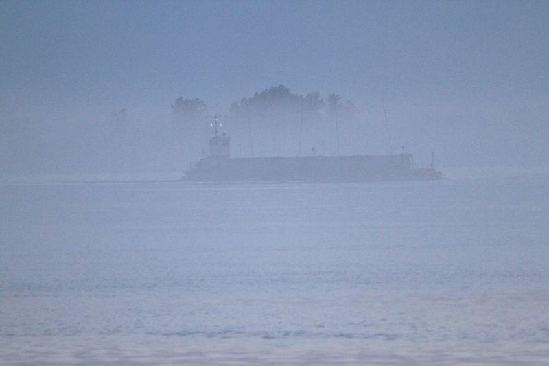 Россия Russia туман река корабли No People