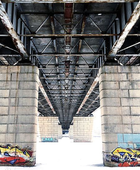 Built Structure Architecture Day No People Metal Indoors  Bridge Shadow Architectural Column Building Bridge - Man Made Structure Low Angle View EyeEmNewHere