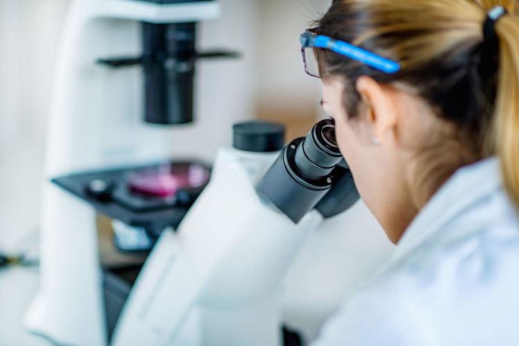 Woman working in laboratory