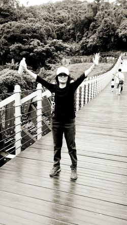 Hello, I am here . Sister ❤ Black And White Suspension Bridge 碧山巖 Tourists Sightseeing白石湖吊橋 Enjoying Life Hi! Relaxing