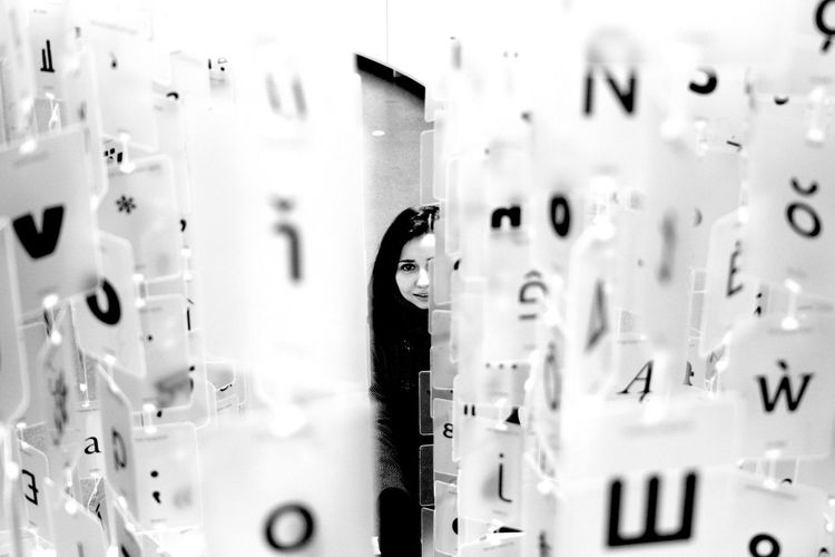 Alphabet B&w B&w Photography B&W Portrait Beautiful Woman Blackandwhite Design Design Museum Face Facial Expression Language Art Letters Letters Art Linguistics Love Portrait Of A Woman Smile EyeEm LOST IN London Breathing Space Your Ticket To Europe Mix Yourself A Good Time Postcode Postcards Black And White Friday Inner Power Adventures In The City Plastic Environment - LIMEX IMAGINE The Architect - 2018 EyeEm Awards The Street Photographer - 2018 EyeEm Awards The Portraitist - 2018 EyeEm Awards The Creative - 2018 EyeEm Awards The Fashion Photographer - 2018 EyeEm Awards The Photojournalist - 2018 EyeEm Awards The Traveler - 2018 EyeEm Awards