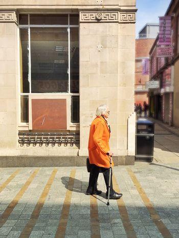Yorkshire Streets. The Lady in Orange. Leeds, UK. The Portraitist - 2016 EyeEm Awards The Street Photographer - 2016 EyeEm Awards Shootermag Mobilephotography IPhoneography ShotOniPhone6 EyeEm Best Shots - People + Portrait