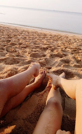 Connected By Travel sea, sun and our sand covered legs. Tarasamarinduque Marinduquetravels