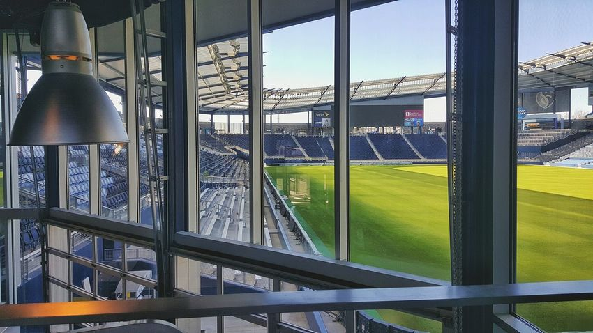 No People Pitch Football Pitch Soccer Field Beautiful Game Stadium Window Day Sporting Kc Skc Kansas City Stadium Seating Soccer Soccer⚽ Light Fixture