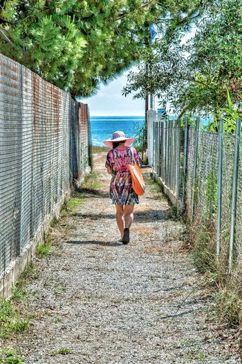 Girl Walking On Path. Simplicity Is Beauty. Girl Walking On The Beach One Person One Direction To The Beach Beach View Seascape Summer Vibes Summer Views Summertime On The Road On The Move The Walk Taking Photos On The Way