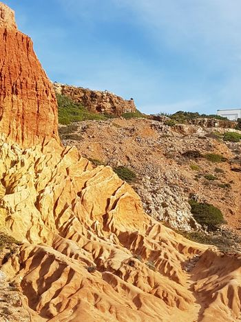 Beautiful Algarve Portugal Nature Fossil Rock - Object Geology Outdoors Desert Sky Landscape Horizontal No People Day Beauty In Nature Nature Reserve Sand Dune Close-up Exceptional Photographs Simplicty Tranquility bonne journée !!!