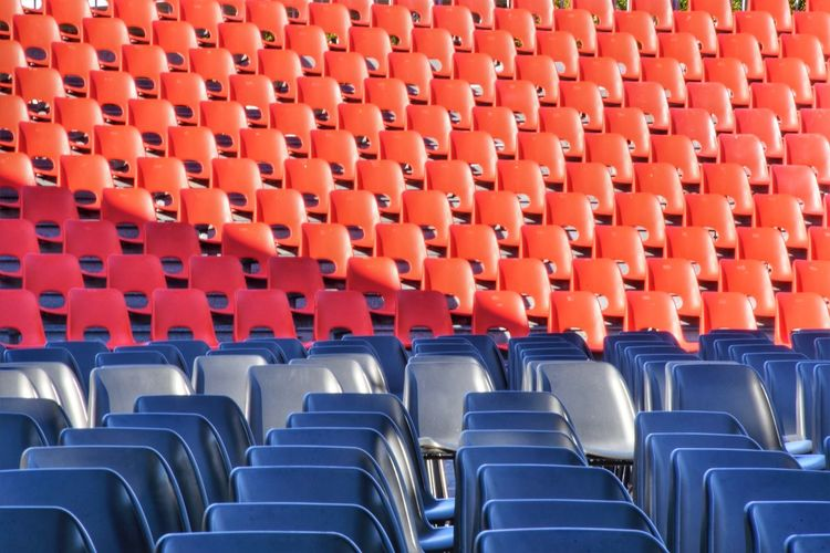 Empty seats in row