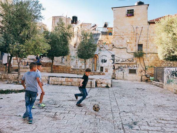 Jerusalem Israel Palestine Walking Around Football Streetphotography