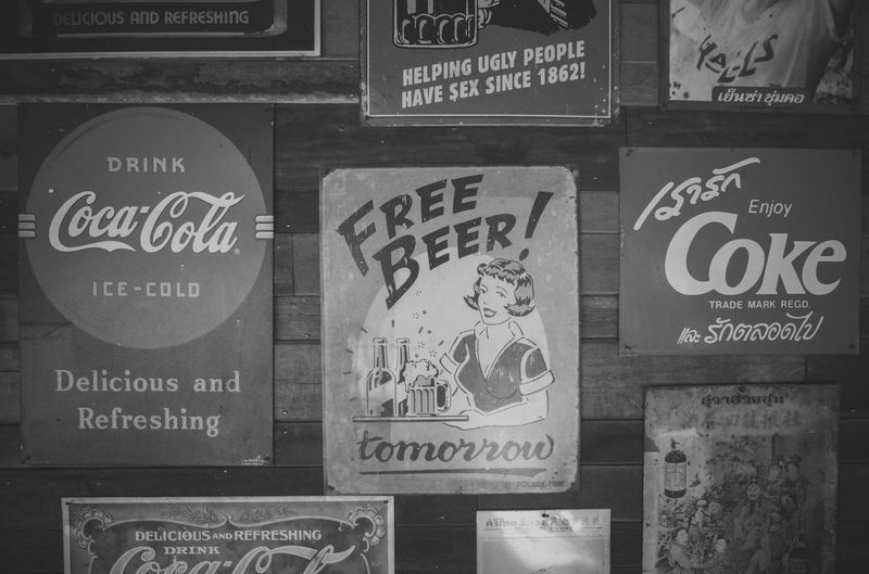 CocaCola black n white and Free Beer vintage posters. Agriculture Antique Beer Business Classic Coke Retro Black Blacknwhite Coca Cocacola Cola Countryside Drink Elements Hipster Ice-cold Label Old Organic Restaurant Symbol Vintage White Woodcut