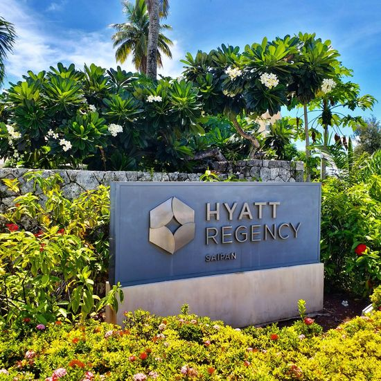 Hyatt Regency~ Saipan Northern Mariana Islands Travel Vacations Tropical Climate Day No People Tree Beauty In Nature Sky EyeEmNewHere Tourism Sunny PhonePhotography Samsung Hyatt Regency Samsungphotography Flower Welcome Sign