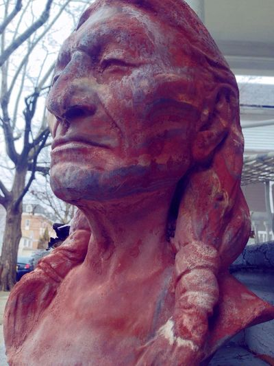 """""""Chief"""" Outdoors Statue Low Angle View Close-up"""