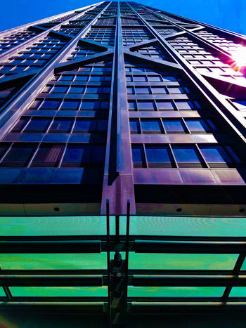 HancockTower Hancock Built Structure John Hancock Building Architecture Building Exterior No People Day Sky Clear Sky Vacations Travel Destinations EyeEmNewHere Architecture Outdoors Built Structure Building Exterior Steel Glass Beauty Is Everywhere  Chicago IL Chicago Architecture Chicago Skyline Steel Structure  Steel And Glass