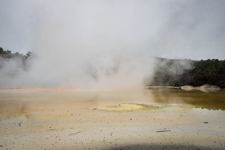 geothermal activity in new zealand Rotorua  Beauty In Nature Day Environment Geology Geothermal Activity Heat - Temperature Hot Spring Landscape Nature New Zealand No People Non-urban Scene Outdoors Physical Geography Power Power In Nature Scenics - Nature Smoke - Physical Structure Steam Travel Destinations Wai-o-tapu Water The Great Outdoors - 2018 EyeEm Awards