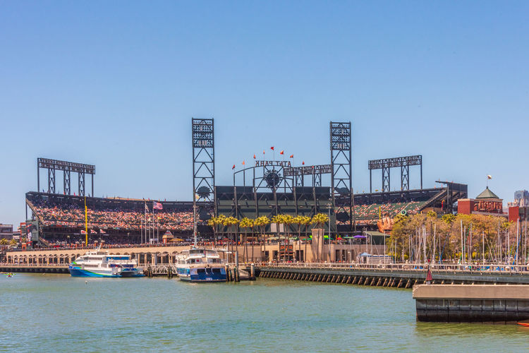 AT&T Park Water Architecture Built Structure Sky Waterfront Machinery Building Exterior Nature Crane - Construction Machinery Day Transportation Clear Sky Industry River City Construction Industry Outdoors No People Travel Construction Equipment