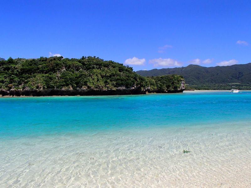 Beach Beauty In Nature Blue Calm Coastline Idyllic Ishigaki Island Majestic Non-urban Scene Ocean Okinawa Sand Scenics Sea Seascape Shore Sky Tourism Tranquility Vacations Vibrant Color Waterfront