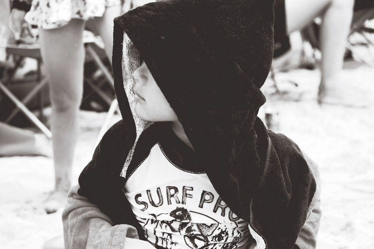 Little Boy Wearing Hoodie