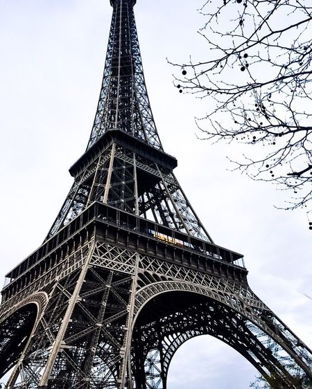 This photo was taken on the same day as my first post but with a different lighting and view, I took a different approach with the editing to emphasise the cold morning that was in it. Eiffel_tower  Tower Famous Place International Landmark Travel Destinations Low Angle View Tall - High Tourism Capital Cities  Built Structure Architecture Culture Travel Tall Architectural Feature Metal Iron - Metal Skyscraper Grid Spire