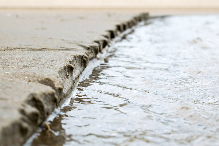 Close-up of water flowing in sea