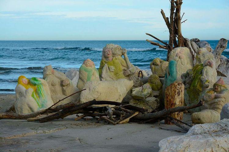 Reporter Beach Photography Nativity Scene Stone Engravings Showcase: January Shore Shore Line Hidden Gems  Pescara Italy