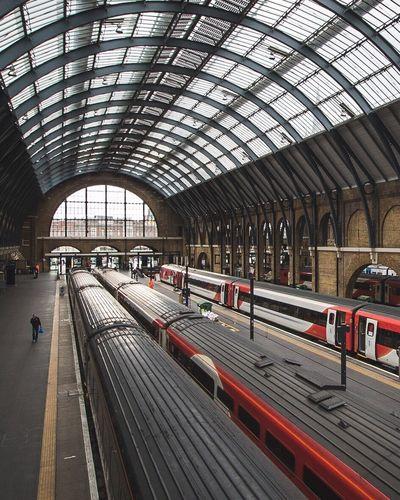 One man on a lonely platform Train Train Station Travel Transportation London LONDON❤ Urbanphotography Taking Photos Architecture City Life City View  City Urban