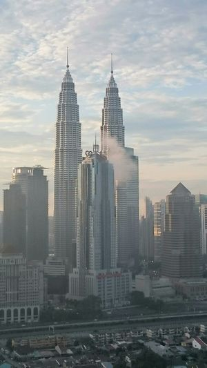 KLCC dusk City Skyscraper Cityscape Modern Architecture Urban Skyline Aerial View Tall - High Travel Destinations Travel Business Finance And Industry Downtown District Building Exterior Tower No People Cloud - Sky Outdoors Business Igniting Sky Built Structure Growth Modern Cityscape Architecture