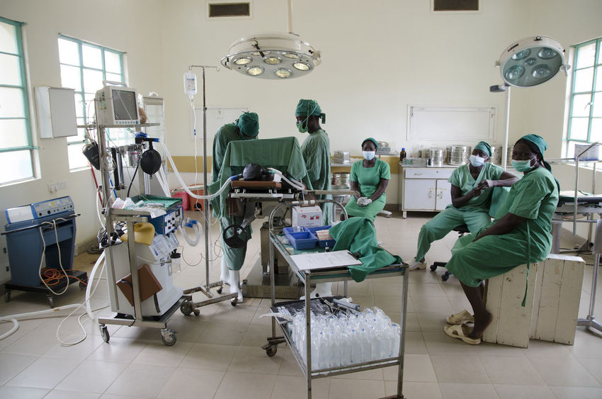 Operating room in a rural hospital Doctor  Hospital Rural Surgeon Surgical Instruments Day Full Length Healthcare And Medicine Hospital Hygiene Indoors  Operating Room Surgery Theatre