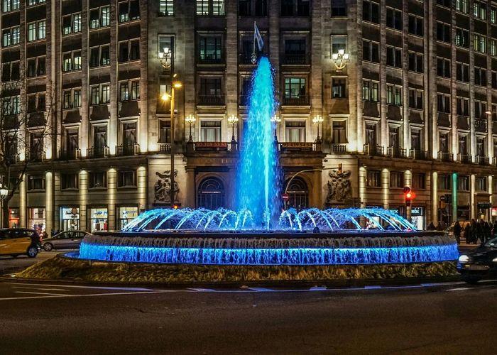 Water Fountain Fountain Bcn Street