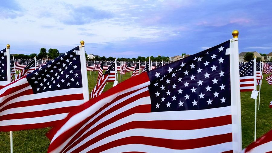 Old Glory Moving Wall Memorial 4th Of July Stars And Stripes Military Patriotism Pride Flag Cultures Politics Striped National Icon Waving War Memorial Memorial The Photojournalist - 2018 EyeEm Awards