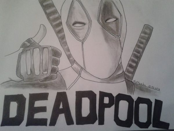 Deadpool Marvel Marvelcomics Draw Drawing Sketch Sketches Illustration Rysunek Ilustracja Szkic Art Blackandwhite