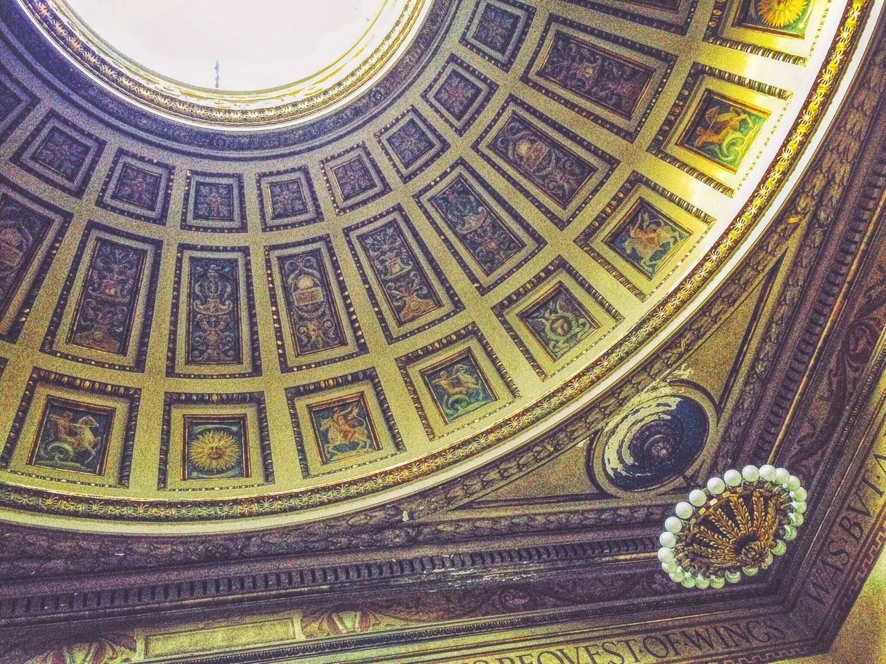 design, pattern, art and craft, indoors, history, ceiling, place of worship, religion, architecture, travel destinations, low angle view, backgrounds, no people, full frame, cupola, day