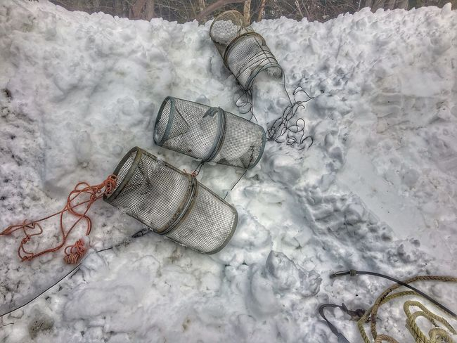 Outdoors Day High Angle View No People Nature Beauty In Nature Winter Cold Temperature Snow Minnow Traps Snow Bank Ropes Lifestyles