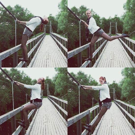 Havin Fun Bridge Poser Hanging Out