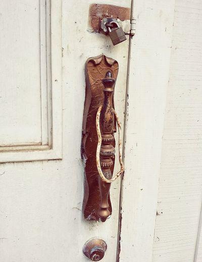 Handle Metal Wooden Vintage Old Wood - Material Door Close-up Architecture Doorknob Lock Closed