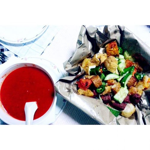 "Tunch with mum. She craves for Indian Rojak. ""Yes ma Rojak it is"". Indianrojak Instafood Instatunch Foodie foodgram fotd"