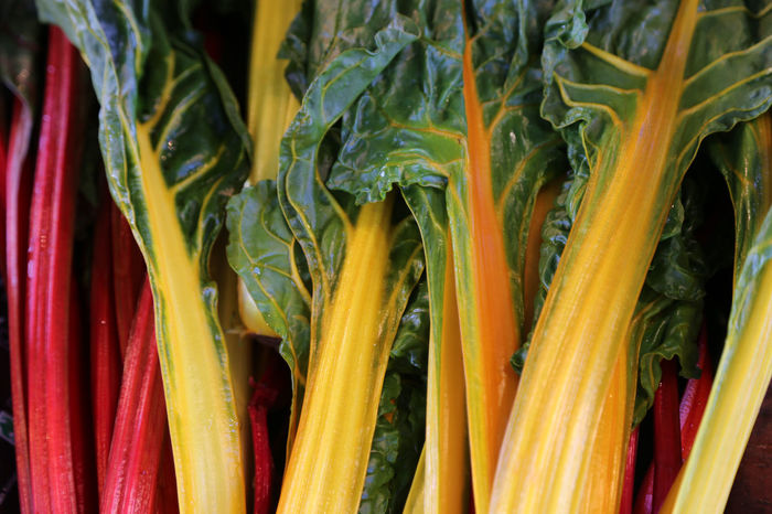 colorful carrots Backgrounds Close-up Day Food Food And Drink Freshness Full Frame Green Color Growth Healthy Eating Market Nature No People Organic Outdoors Raw Food Supermarket Variation Vegetable Spinach Beet Leaf Beet Chard Mangel Mangold