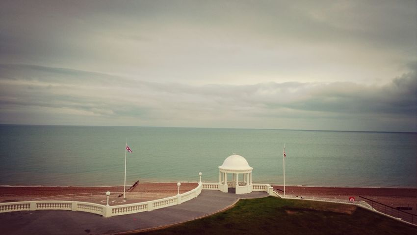 stormy night . Bexhill Seafront Stormysky