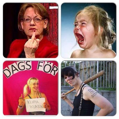 Four faces of Feminazism. Feminism Feminazism Feminist Feminazi instacollage