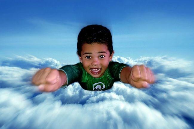 Sony Xperia Z Vfx Vfxbro My Cousin Clouds Sky Flying High Fly Superhero Green Lantern