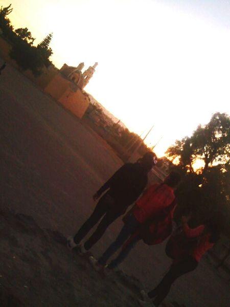 BFF ♥ Atardecer Sol Campo Pueblo People EyeEm Bye
