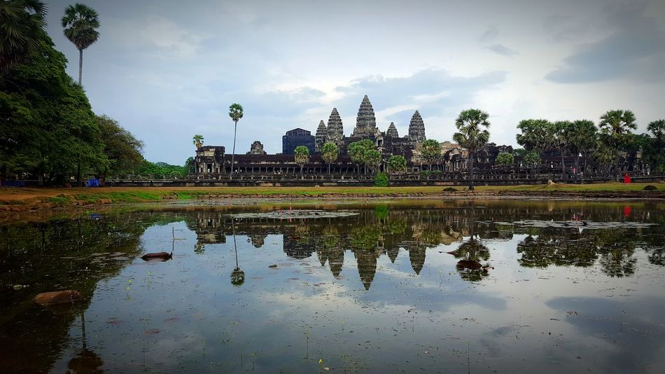 Reflection Water Religion Travel Destinations Travel Tree Architecture Nature Sky Outdoors No People Day The Great Outdoors - 2017 EyeEm Awards The Architect - 2017 EyeEm Awards Khmer Architecture Cambodia Travel Photography Angkor Wat Khmer Culture Siem Reap EyeEm Best Shots Travel Life Temple Khmer Traveling Lost In The Landscape