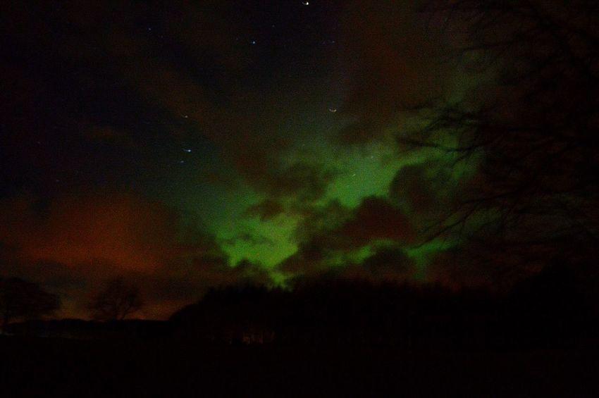 Aurora Borealis Northern Lights Scotland Aberdeenshire Mintlaw Colourful Pitfour Lake Night Photography