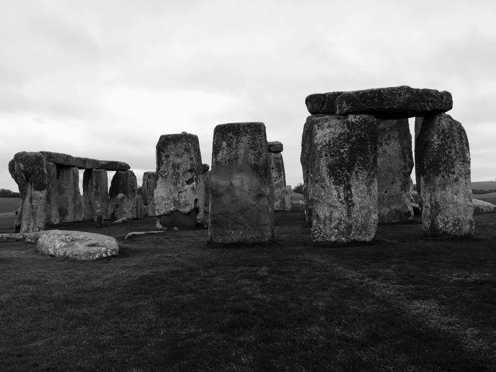 Stonehenge against cloudy sky