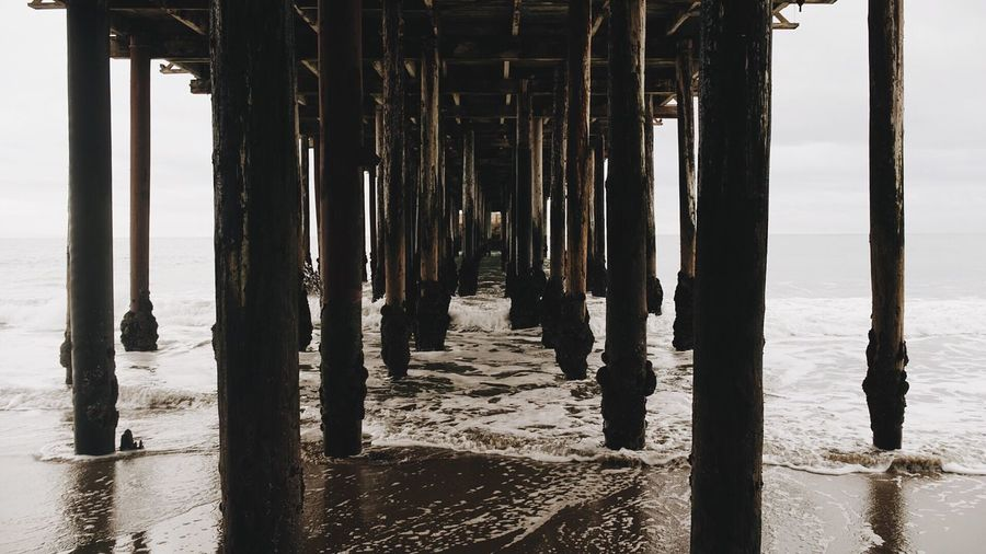 By the ocean.